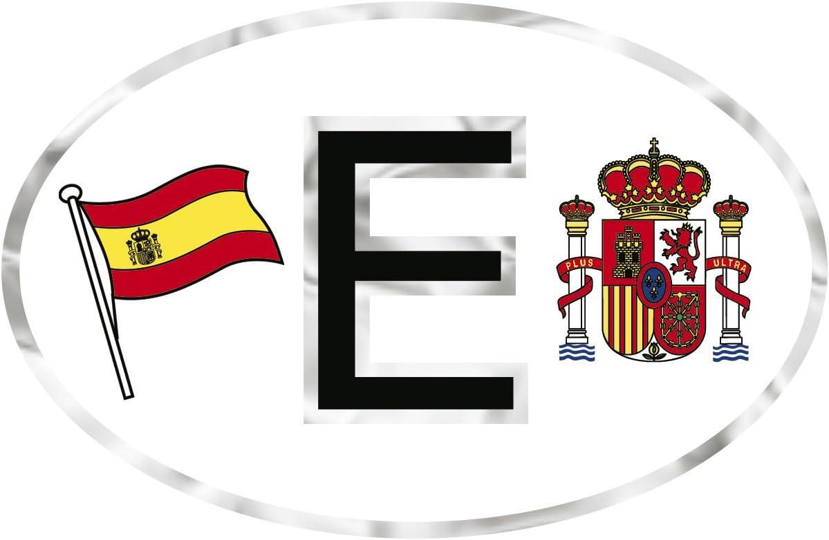Autoaufkleber 10cm x 6,5cm PVC-Aufkleber 301157 SPANIEN E Flagge Wappen ca Gr