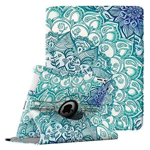 Fintie iPad 2/3/4 Case - 360 Degree Rotating Stand Smart Case Cover for Apple iPad with Retina Display (iPad 4th Generation), iPad 3 & iPad 2 (Automatic Wake/Sleep Feature) - Emerald Illusions by Fintie