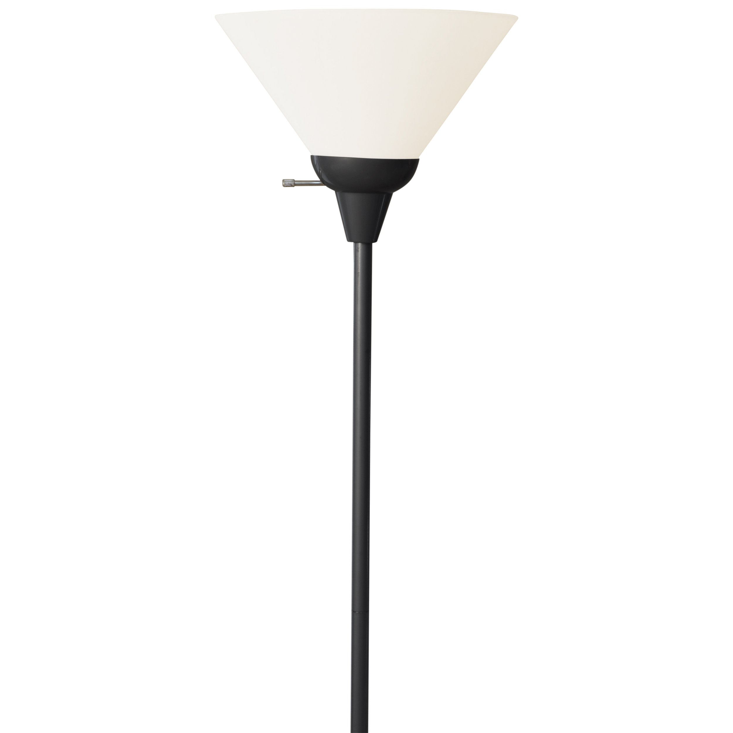 Light Accents 6113-21 Floor Lamp 72'' Tall with White Shade (Black)