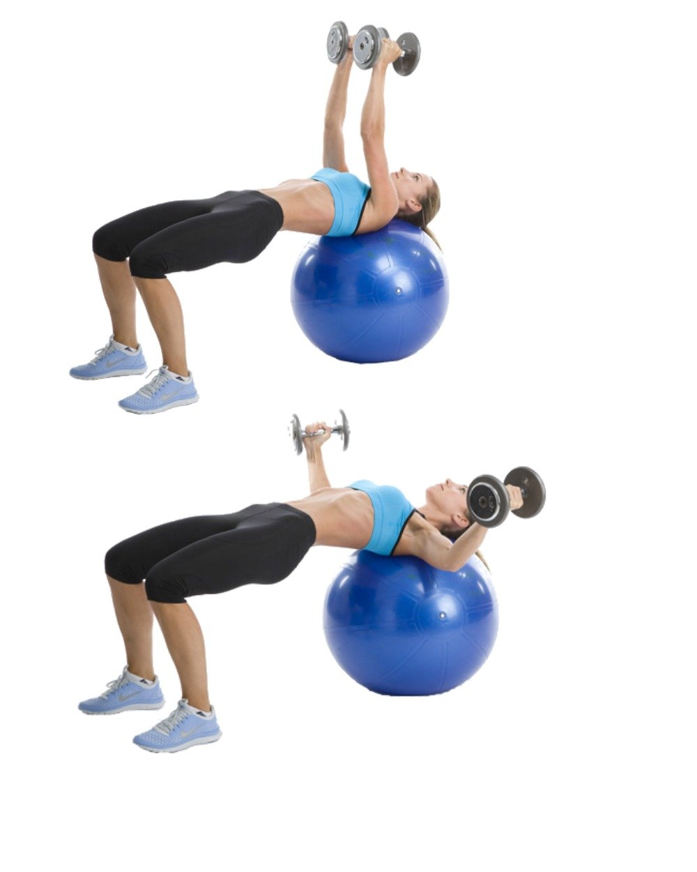"""Stability Ball Core Exercises: 19""""x27"""" Exercise Ball Workout Poster Laminated"""