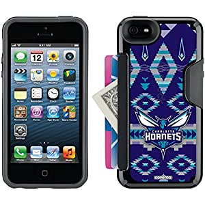 Coveroo Charlotte Hornets Tribal Design Phone Case for iPhone 5s/5 - Retail Packaging - Black