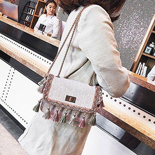Blanc Sac 3TT600492 à femme Wanfor l'épaule porter pour à SHxww8