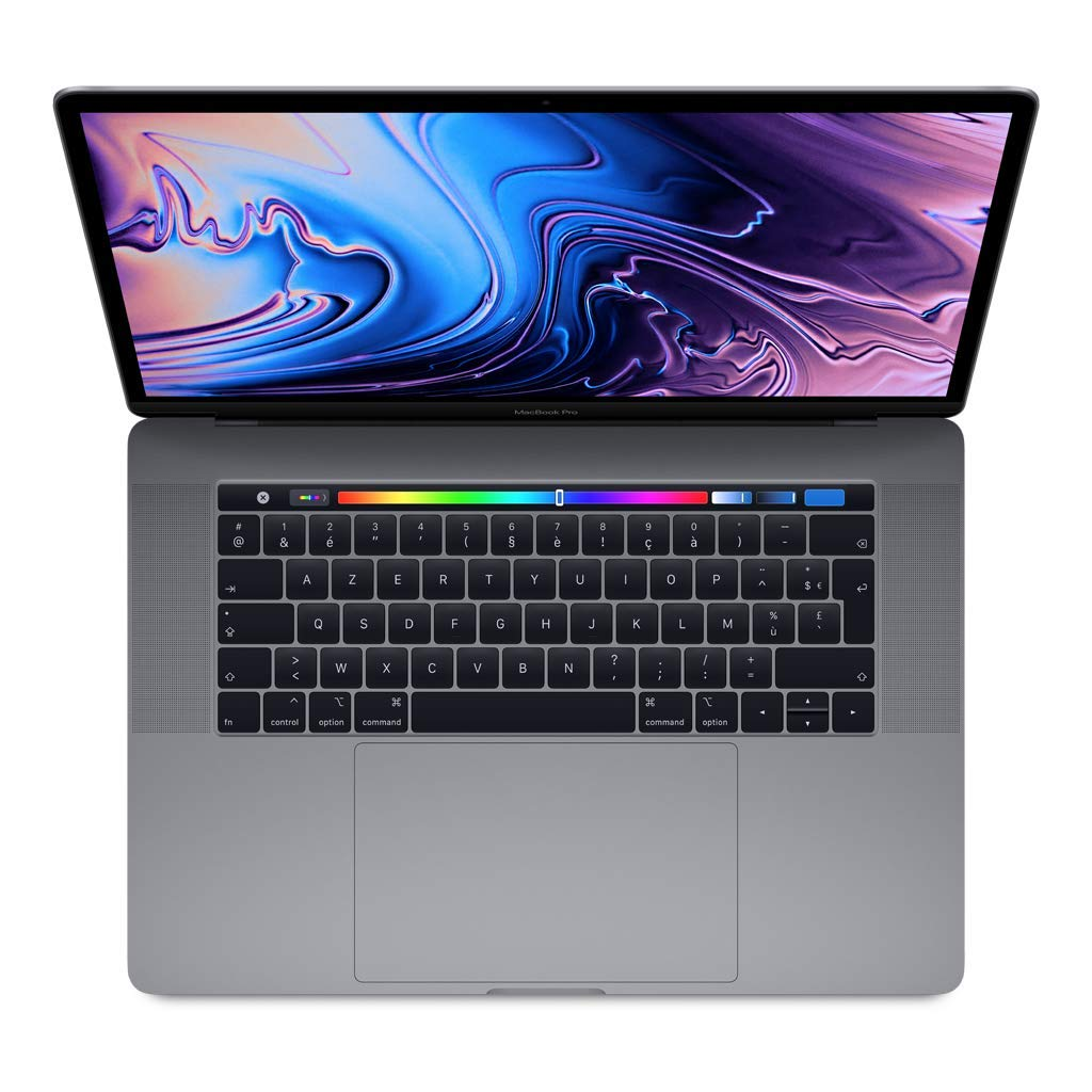 Apple MacBook Pro (15 pouces avec Touch Bar, Processeur Intel Core i7 Hexacœ ur de 8e Gé né ration à  2,2 GHz, 256 GO) - Gris Sidé ral Processeur Intel Corei7 Hexacœ ur de 8eGénération à2 2