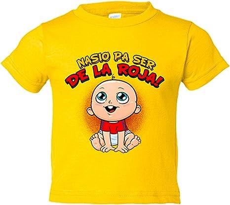 Camiseta niño nacido para ser de La Roja España fútbol - Amarillo ...
