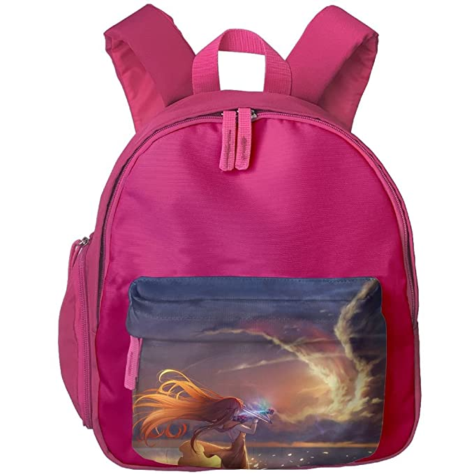 36f252a2ae82 Cartoon Animation Violin Girl Eagle Cloud Children Mini Backpack Pocket  Zipper Outdoor Travel School Book Bag