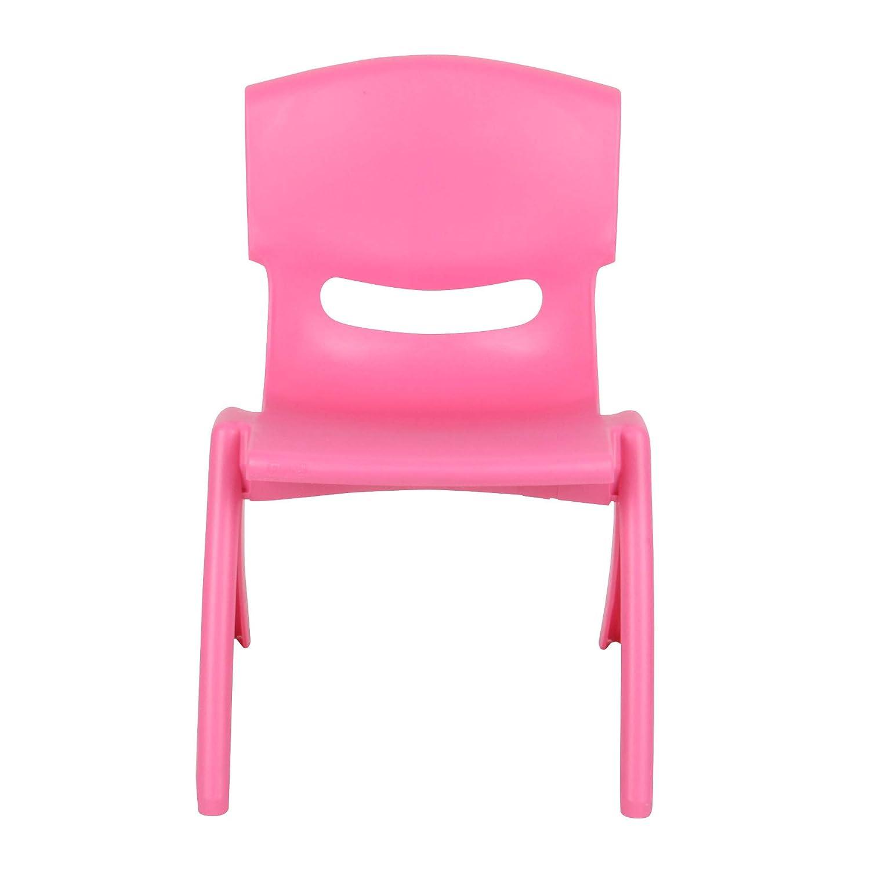 Blue Fiore Plastic Childrens Chair Kindergarten Seat Playschool Tea Party