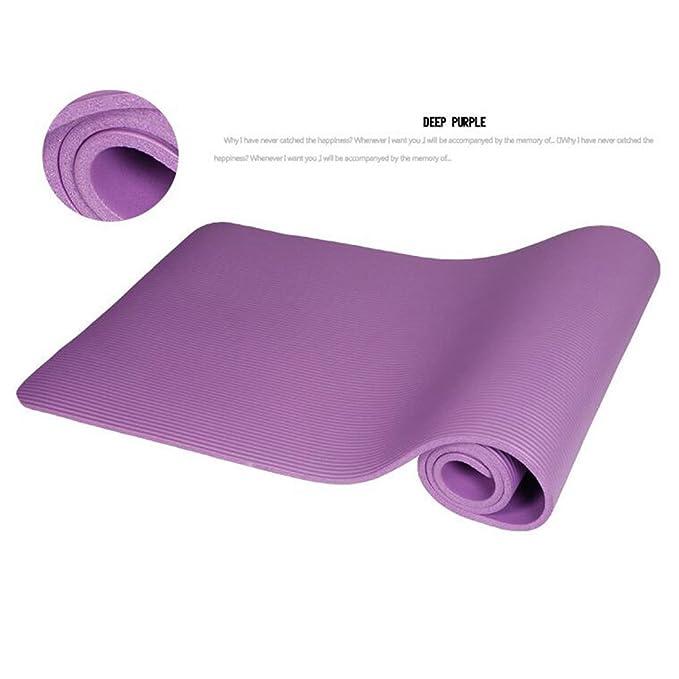 RobotsDeal® NBR Yoga Mat 10 mm Extra de Espesor de Alta ...