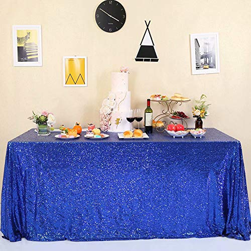GFCC Sparkle Royal Blue Sequin Tablecloth 60