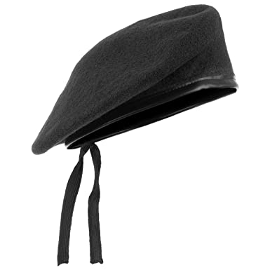 ANS Mens Ladies Hat Army Beret Leather Trim  Amazon.co.uk  Clothing d64a67a67ca