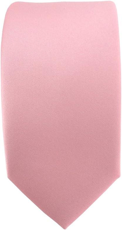 TigerTie - corbata estrecha - rosa oscuro monocromo: Amazon.es ...