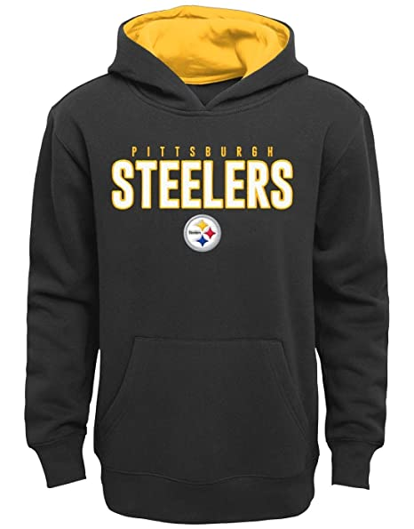 sale retailer bf9a4 f982a Outerstuff Pittsburgh Steelers Youth NFL Extra Point Pullover Hooded  Sweatshirt
