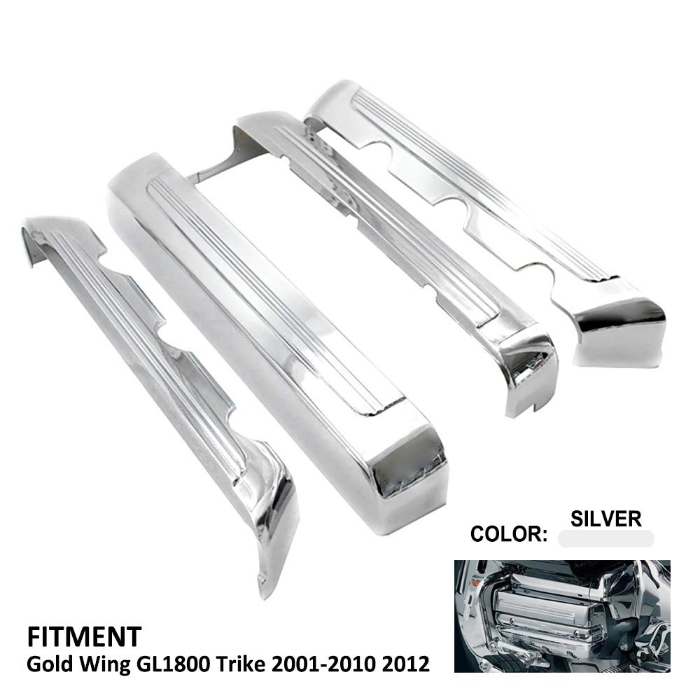 TESWNE Chrome Motorcycle Timing Chain Cover For Honda Goldwing GL1800 2001 2002 2003 2004 2005 2006 2007 2008 2009 2010 2011