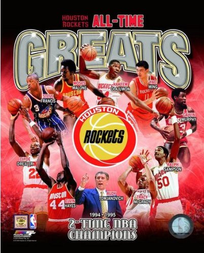 NBA Houston Rockets All Time Greats Composite Photo (Size: 8