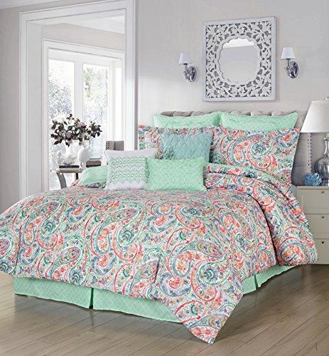 Simplicity Home Dupont Technology 5 Piece Comforter Set, Full/Queen, Bianca,