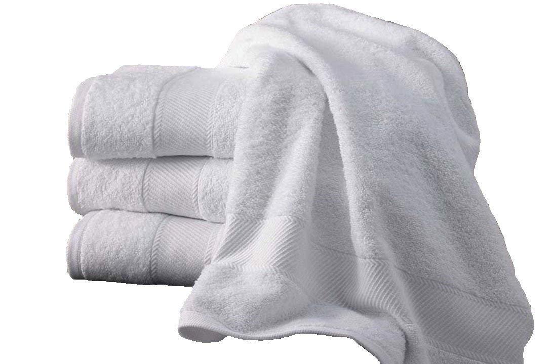 5 toallas de baño de 100x150 cm, 500 gr/m² PUR algodón egipcio blanco