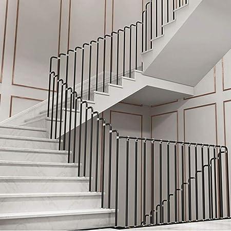 Barandilla Minimalista Moderna de Acero al Carbono de Alta Resistencia, la Pasamanos de la Escalera de la Barandilla de Entrada es Fácil de Instalar,Adecuado para Exteriores/Interiores: Amazon.es: Hogar