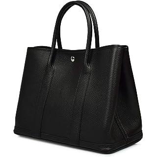 fad56183efef Esyuel Women s Genuine Leather Garden Tote Bag Top Handle Handbags(36CM)