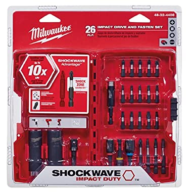 Milwaukee 48-32-4408 Shockwave Drive And Fasten Set (26-Piece)