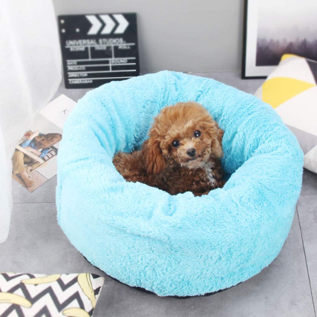bluee 50x23cmYangMi pet bed Four Seasons Universal Nonremovable Pet Nest Cat Litter Small And Medium Dog Kennel Mat Winter (color   PINK, Size   50x23cm)
