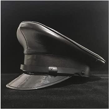 GHC gorras y sombreros 100% cuero, sombrero negro del ejército ...