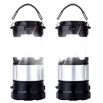 Amazon 2 pack outdoor camping lamp portable outdoor 2 pack outdoor camping lamp portable outdoor rechargeable solar led camping light lantern handheld flashlights aloadofball Image collections