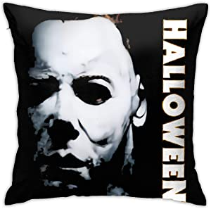 NOT Halloween Michael Myers Logo Home Decorative Pillow Covers 18 x 18 Inch Cushion Case for Couch Sofa Living Room Patio Indoors Outdoors Style Home Decor