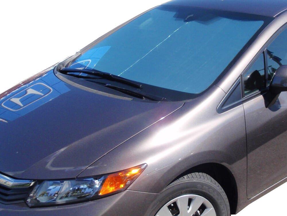 HeatShield The Original Auto Sunshade, Custom-Fit for Honda Civic Sedan 2012, 2013, 2014, 2015, Silver Series by HeatShield (Image #3)