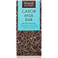 The Carob Kitchen Carob Milk Bar 80g, Gluten Free, No Added Sugar, Naturally Sweet, ACO Certified Organic, Non GMO, 80 g