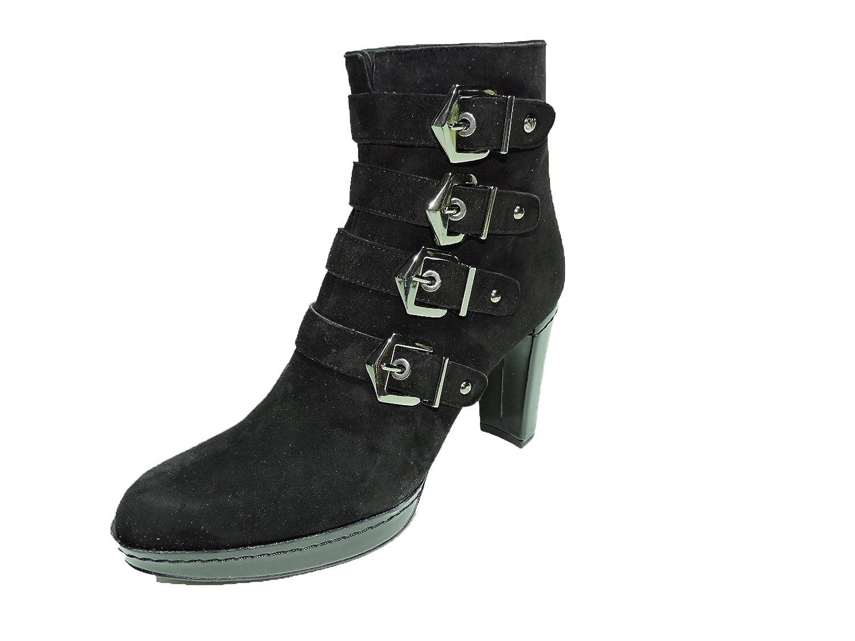 """Stuart Weitzman Womens Berkshire Black Suede 4"""" heel Ankle Buckle Boots, booties"""