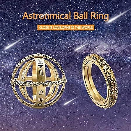 Acreny Bague sph/érique astronomique en Forme de Boule US 5 Or
