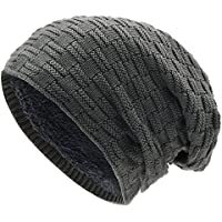 f93fa126aff UPhitnis Warm Winter Hats For Women Men - Slouch Beanie Knit Hat - Thick