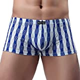 YAliDa 2019 clearance sale Men Underwear Sexy Comfortable Breathable Underpant Nightwear Sleepwear (,Blue)