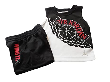 06b6aee1517e Image Unavailable. Image not available for. Color: Nike Air Jordan Infant  Boys Two Piece Tank Top and Shorts ...