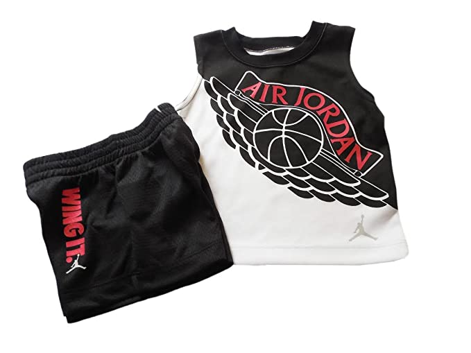 d05c7d243b24a Amazon.com  Jordan Nike Air Jumpman Boys 2-Piece Top and Shorts ...