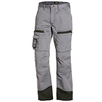 Pantalones de chándal de conductor gris/negro C156: Amazon.es ...