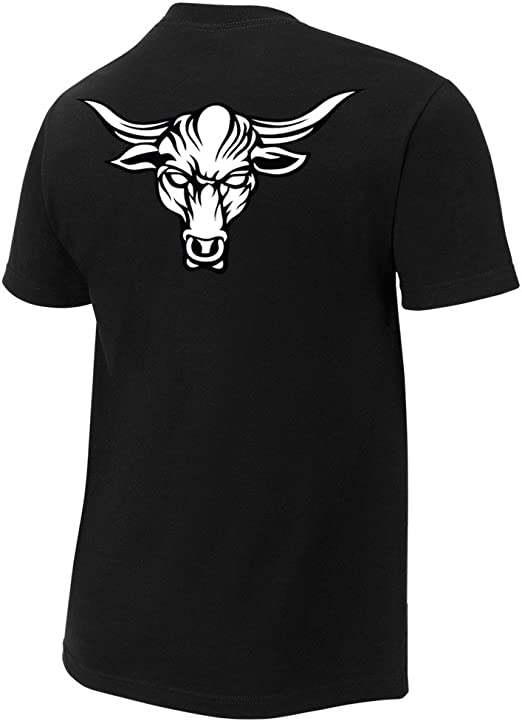 WWE The Rock Brahma Bull Authentic T-Shirt Black//White Small