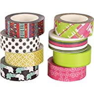 Polar Bear Washi Masking Tape Collection, 0.59 Inch X 10 Yards each, Set of 8, (WT-1510) - Perfect For Planners, Decorating, Scrapbooking and other creative projects