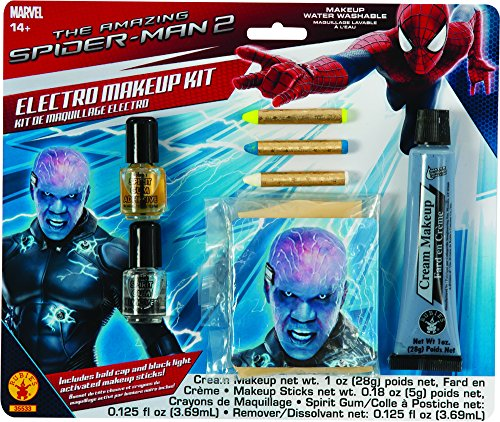 Rubies The Amazing Spiderman 2 Electro Black-Light Special Effects Make-Up Kit
