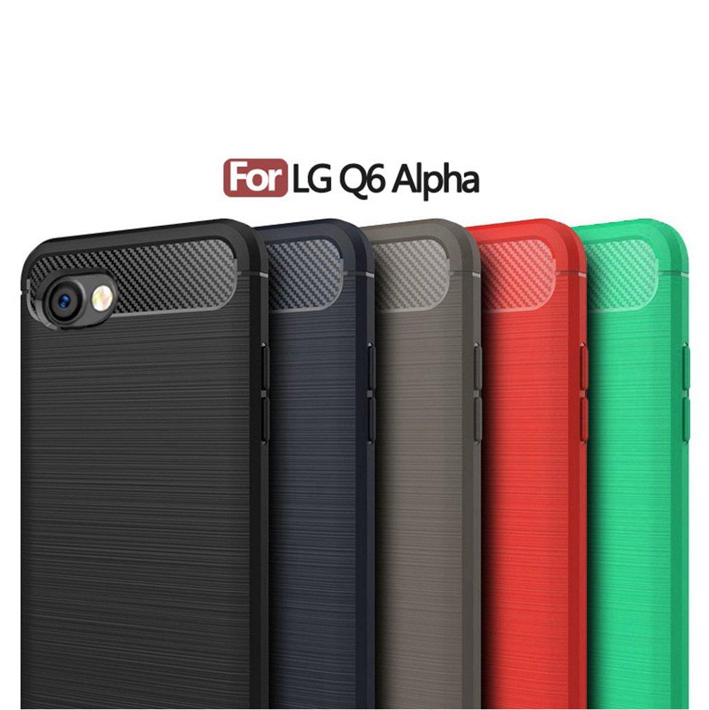 Amazon.com: LG Q6 Alpha Case Cover Shell,Carbon Fiber ...
