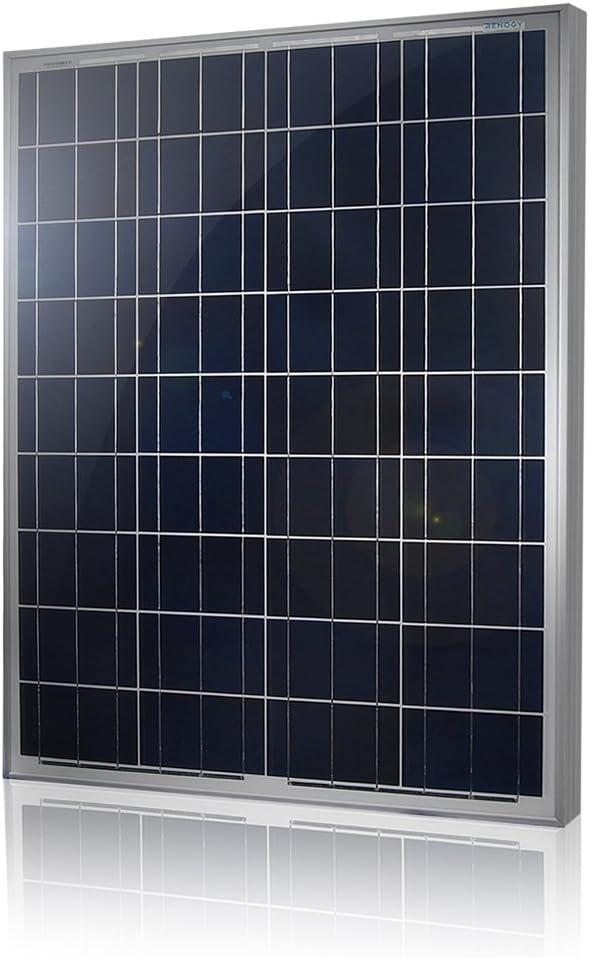 Caravane Bateau Renogy Panneau Solaire 100W Module Photovolta/ïque Polycristallin id/éal pour charger batterie 12V Camping-car