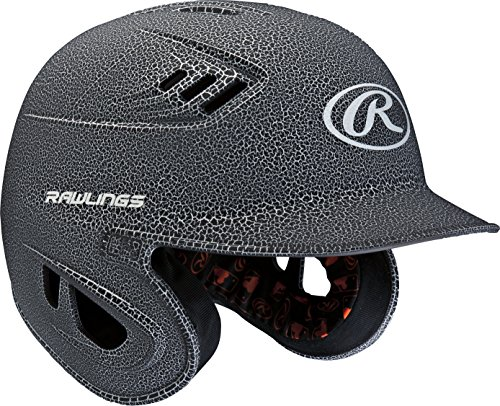 Rawlings R16 Series Crackle Batting Helmet, Black, Senior (Senior Batting Helmet)