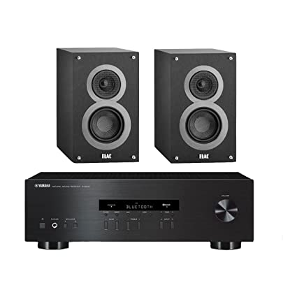 Yamaha R S202 Stereo Receiver With Bluetooth And Elac B4 4quot Debut Series Bookshelf