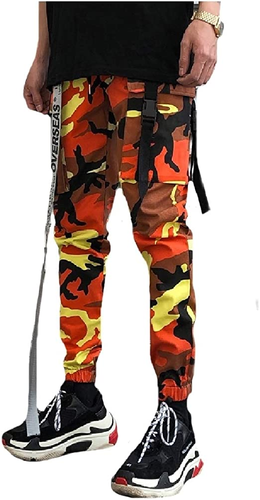 YAXINHE Mens Relaxed Fit Multicam Trousers Stylish Airsoft Cargo Pants