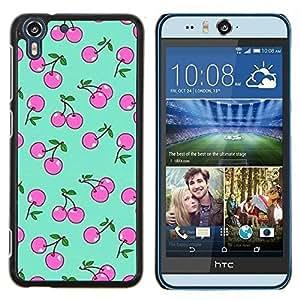 Stuss Case / Funda Carcasa protectora - Motif Baies Rose Vert - HTC Desire Eye M910x