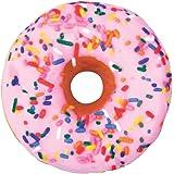 "iscream Sugar-riffic! Donut Shaped Bi-Color 16"" Photoreal Print Microbead Pillow"