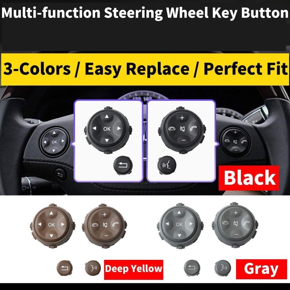 Dasing Bouton de Volant Multifonction de Voiture pour Mercedes W221 Classe S S280 S300 S350 S400 Noir