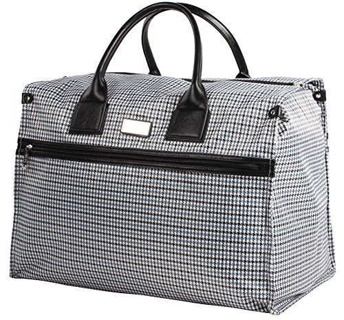 Nicole Miller New York Luggage Taylor Box Bag (Blue Plaid)