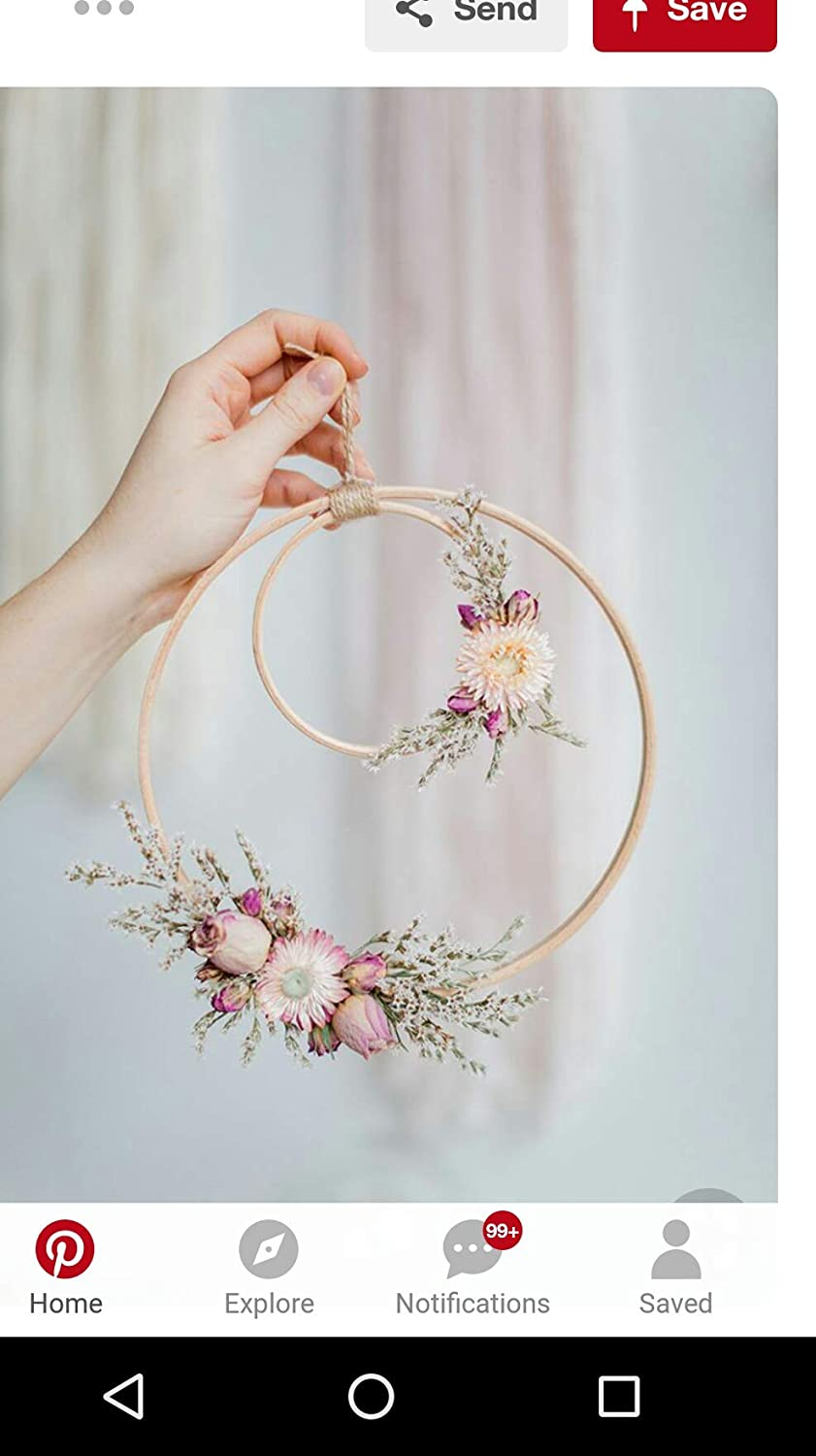 Wooden Ring Circle Hoop Baby Mobile| Mobile for Crib| Dia from 4.1 to 12 inches//from 10.5 to 30.5cm Eco Baby Shower Holder//arm Baby kit 4.1 inches 10.5 cm Baby Moile Hanging for Bed