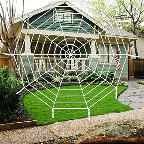 Hazoulen Halloween Spider Web Webbing for Halloween Decorations Props, 9 -
