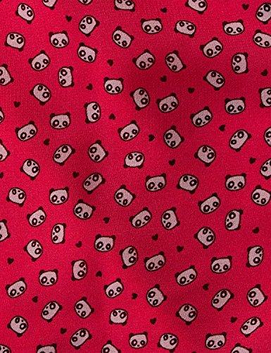Brave diseño de impresión para mujer Panda Soul de costura para chalecos de Pack de pared funda rígida sin mangas de mujer T-camiseta de manga corta de la marca en la parte superior y Rosso
